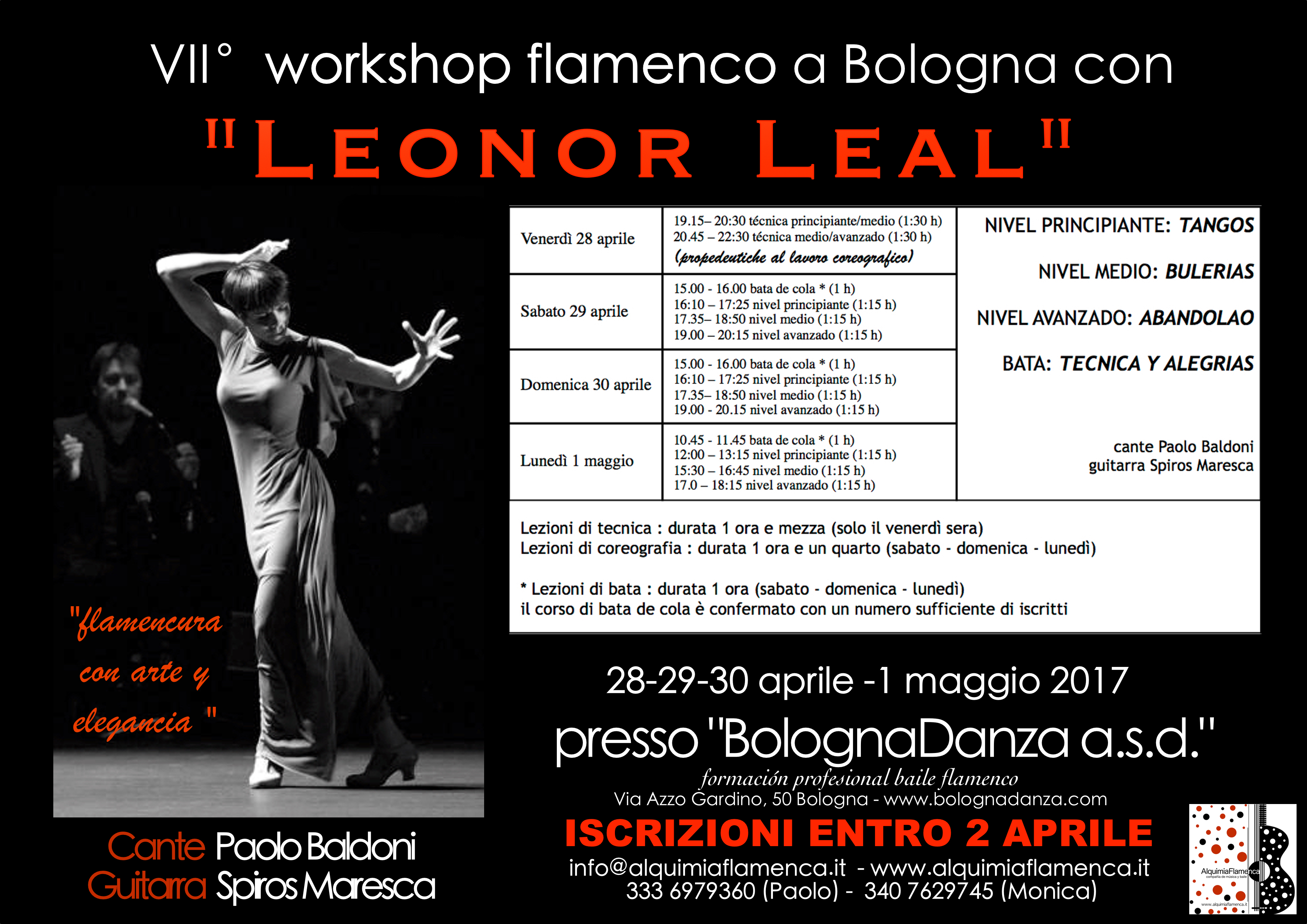 Leonor Leal 2017 ORARI