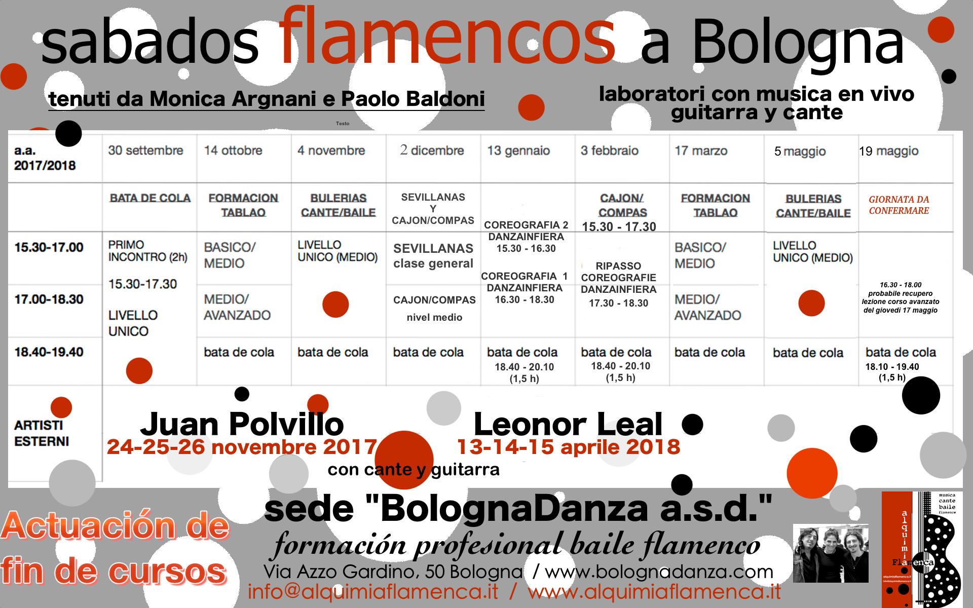 A.sabados date flamencos da gennaio a giugno