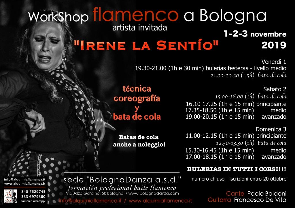 Workshop flamenco con Irene La Sentío a Bologna (Italy)